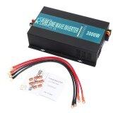 ซื้อ Car Power Inverter Dc 12V To Ac 220V Pure Sine Wave Converter Solar Led Display 3000W Intl ใหม่