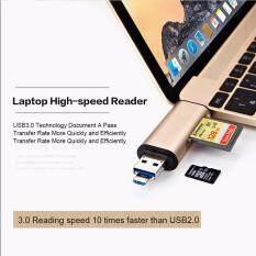 ทบทวน ที่สุด Card Reader 3 In1 Usb Type C Micro Usb Usb Card Reader การ์ดรีดเดอร์ แฟรชไดร์ฟ การ์ดรีดเดอร์ เชื่อมต่อโอทีจี