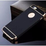 Case Apple Iphone 5 5S เคสกันกระแทก แบบไม่หนา สีเมทัลลิค หัว ท้าย ประกบ 3 ชิ้น สีดำขอบทอง เป็นต้นฉบับ