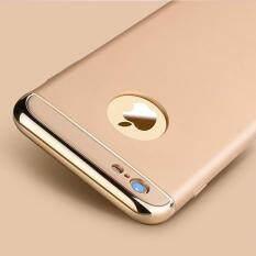 โปรโมชั่น Case Apple Iphone 6 Plus 6S Plusเคสกันกระแทก แบบไม่หนา สีเมทัลลิค หัว ท้าย สีทอง ขอบทอง Case ใหม่ล่าสุด