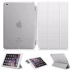 Case cool cool Case iPadAir iPadair1 Case เคสไอแพดแอร์ 1 iPad Air 1 Magnet Transparent Back ipad case (White/สีขาว)