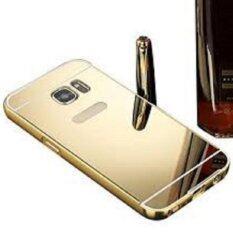 ราคา Case เคส S7 เคสกระจก ราคาถูก พร้อมส่ง ซัมซุง Case Samsung S7 New Bumper Mirror Case 2 In 1 Gold 18K 24K Aluminium Miror ขอบอลูมิเนียม ใหม่ สีทอง