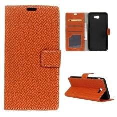 โปรโมชั่น Case For Samsung Galaxy J7 Prime Magnetic Closure Pu Leather Flip Cover Stand Case Brown Intl จีน