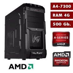 คอมพิวเตอร์ เซ็ตราคาประหยัด Case Tsunami - AMD A4-7300/4G/500Gb.
