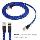 ซื้อ Cat7 Rj45 10Gbps Patch Shielded Lan Network Cable Flat Ethernet Cord 5M Intl ถูก จีน