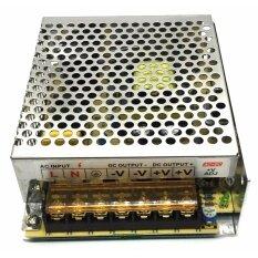 หม้อแปลงไฟ ,กล่องรวมไฟCCTV (แบบรังผึ้ง) 7 ช่อง 12V 10A 120 Watt สำหรับกล้องวงจรปิด และไฟ LED ไม่ต้องใช้ อแดปเตอร์ Switching Power Supply(silver)