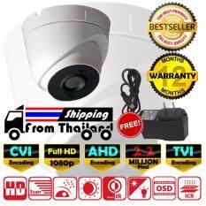 CCTV กล้องวงจรปิด โดม Full HD 2.2 MP ล้านพิกเซล AHD / CVI / TVI EXIR แบบใหม่ 2017 กล้อง 720p / 960p / 1080p เลนส์  4mm  ฟรีอะแดปเตอร์ ( DS-2CE56D0T / DS-2CE56D1T / DS-2CE56D1T-IT3 )