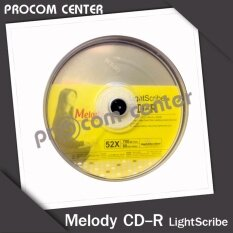 แผ่น Cd-R Melody Light Scribe 52x 700mb 80min แพค 10 แผ่น By Procom Center.