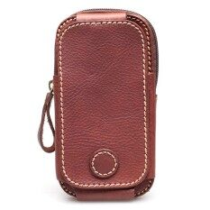 ราคา ราคาถูกที่สุด Chinatown Leatherกระเป๋าหนังแท้ใส่มือถือร้อยเข็มขัดฝาหน้าตั้งใหญ่ Note 5 หรือ Iphone6 สีน้ำตาลเข้ม