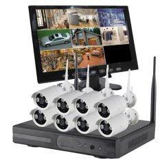 ชุด กล้องวงจรปิด 960P Wireless IP NVR Kit 5G CCTV-8CH พร้อม จอมอนิเตอร์ 9 นิ้ว