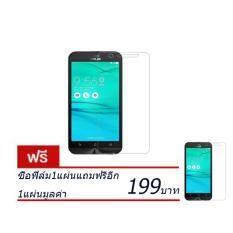 ขาย ซื้อ ฟิล์มกระจกนิรภัยกันรอยกันจอแตก 26Mm 2 5D รุ่น Asus Zenfone Go Zb552Kl ซื้อ1แถม1