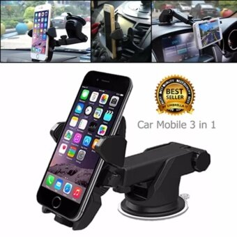CICI ที่จับมือถือ 3 in 1 เอนกประสงค์ ในรถยนต์ Car Phone Holder ยืดและหมุนได้ 360 องศาSL-2