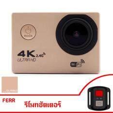 """Ck Mobile Action Camera HD 2"""" 4K ULTRA HD wifi เมนูไทย พร้อมเคสกันน้ำและอุปกรณ์เสริม FEER รีโมท"""
