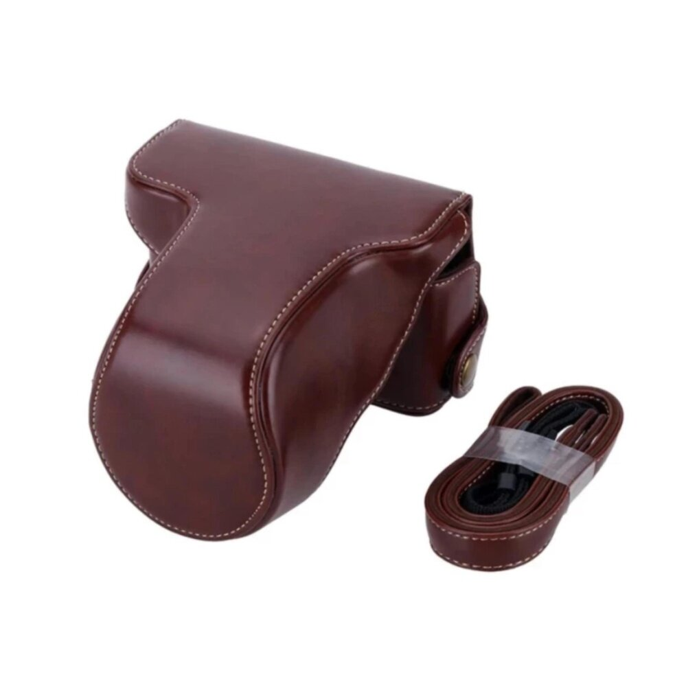 Classic PU Leather Camera Case Bag Protective Pouch with Shoulder Strap for Fuji Fujifilm XA10 XA-10 X-A1 X-A2 X-A3 X-M1(Coffee) - intl  กระเป๋ากล้อง อุปกรณ์เสริม