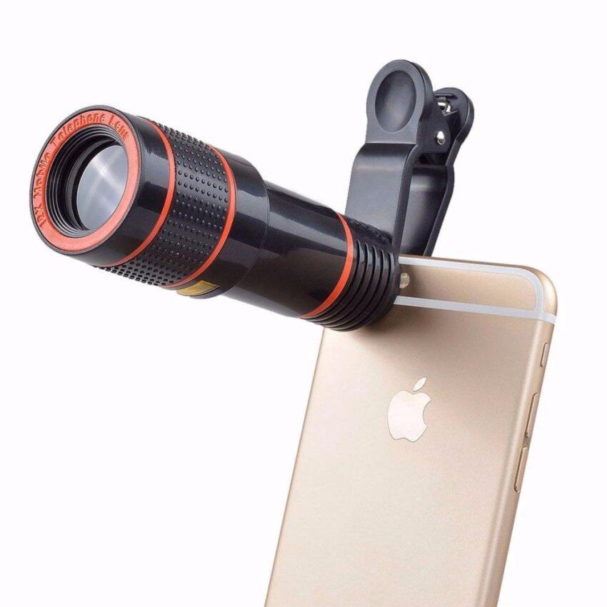 ซื้อ Clip On 12X Optical Zoom Hd Telescope Camera Lens For Universal Mobile Phone Intl Universal ถูก