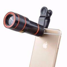ขาย Clip On 12X Optical Zoom Hd Telescope Camera Lens For Universal Mobile Phone Intl ถูก จีน