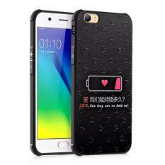 Cocose Phone Case For Oppo A57 Silicone Tpu Back Cover Love Battery Painting Shockproof Waterproof Dirt Resistant Phone Shell Black Intl Cocose ถูก ใน จีน