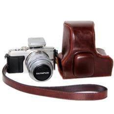 ขาย Coffee Pu Leather Camera Case Bag Cover For Olympus Epl5 With Strap Intl Intl ใหม่