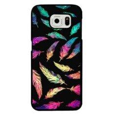 ส่วนลด Colorful Beauty Feather Carton Phone Case For Samsung Galaxy Note5 Multicolor Intl