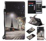 ราคา Colorful Pattern City Night View Card Slot Wallet Pu Leather Stand Flip Case Cover For Sony Xperia Z5 Case Intl ใหม่