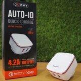 Commy Quick Charge 3 Auto Id 4 2 Output ชุดชาร์ต โทรศัพท์ 2รู Mod Adqc Auto Id V 3 สีขาว White Commy ถูก ใน ไทย