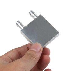 ส่วนประกอบของคอมพิวเตอร์ Liquid Cooling Block 40x40x12 มม. อะลูมิเนียมสำหรับ Cpu Gpu Silver Mini ฮีตซิงก์ระบายความร้อนด้วยน้ำ - Intl By Dueplay.