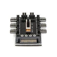 คอมพิวเตอร์ Sata 1 ถึง 8 การระบายความร้อน Fan Splitter Hub ความเร็วเครื่องควบคุม Hub-นานาชาติ By Huyia.
