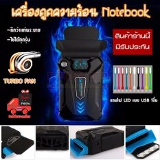 Coolcold 3 เครื่องดูดความร้อน Notebook ปรับความเร็วลมได้ ลดความร้อนได้ดีเยี่ยม สีดำ ฟรี ไฟ LED แบบ USB 1ชิ้น