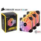 ส่วนลด Corsair Hd120 Rgb Led High Performance 120Mm Pwm Fan — 3 Pack With Controller Corsair