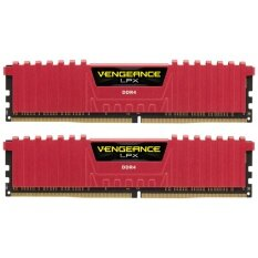 Corsair Ram PC DDR4 16G/3000 (8GBx2) Vengeance LPX C15 (Red)