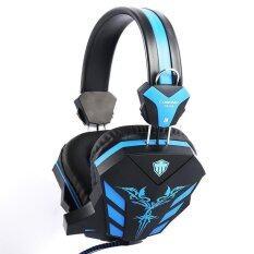 ราคา Cosonic หูฟังสเตริโอเล่นเกมเสื้อหูฟังกับไมโครโฟนหูฟังเล่นกับลมหายใจไฟ Led สำหรับนักเล่นเกมพีซี Cd 618 สีดำ สีน้ำเงิน ที่สุด
