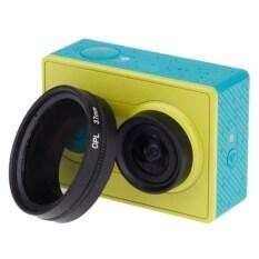 Cpl Filter 37mm + Len Cap Cplฟิลเตอร์เลนส์+ฝาปิดเลนส์ป้องกันหน้าเลนส์ 37mm สำหรับกล้อง Xiaomi Yi Action Camera (สีดำ).