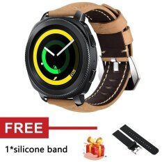 Crazy Horse Soft Genuine Leather Strap Band for Gear Sport SM-R600 Watch - intl