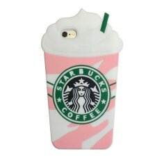ขาย Cute 3D Starbucks Pink Strawberry Frappuccinos Cup Protective Silicone Case Cover For Apple Iphone 6 6S Intl ออนไลน์