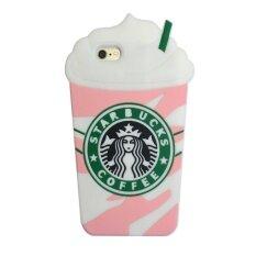 ราคา Cute 3D Starbucks Pink Strawberry Frappuccinos Cup Protective Silicone Case Cover For Apple Iphone 6 6S Intl ออนไลน์