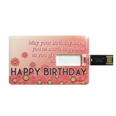 Cyber Brand Flash Drive 8GB Memory USB.2.0 Card HBD Greeting