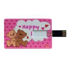 Cyber Brand Flash Drive 8GB Memory USB.2.0 Card HLV Bear