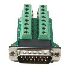 ซื้อ D Sub Db15 2Row 15Pin Male Plug Breakout Board Terminals Connectors Intl ออนไลน์ ถูก