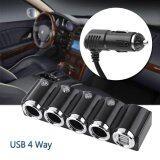 ขาย Dc 12V 24V Usb 4 Way Car Cigarette Lighter Socket Splitter Power Charger Adapter Popular Intl จีน