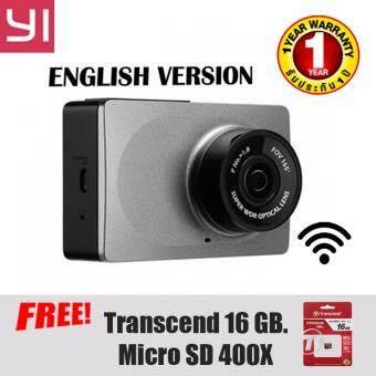 XIAOMI YI กล้อง กล้องติดรถยนต์ แท้ชัดมาก 1080P FULL HDWIFIVERSIONอังกฤษ เลนส์ รับภาพAPTINA พร้อมอุปกรณ์ และ แถมฟรี TRANSCEND 400X MICRO SD CARD 16 GB