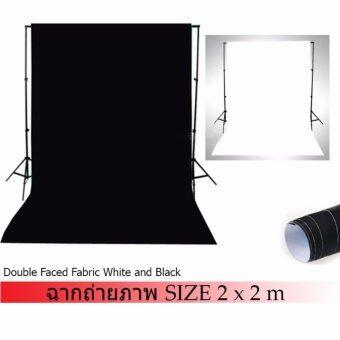 DEEP PHOTOGRAPHIC ฉากถ่ายรูป ถ่ายรูปสินค้า หน้าดำ หลังขวา ขนาด 2x2 เมตร (ขาว/ดำ)