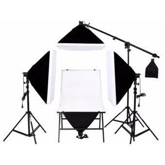 DEEP STUDIO โต๊ะถ่ายสินค้า ฉากถ่ายรูป ชุดไฟสตูดิโอ สตูดิโอถ่ายภาพ ( สีดำ )