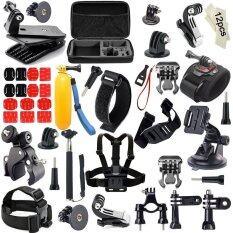 ซื้อ Deerway 57 In 1 Action Camera Accessories Kits Forgopro4 3 2 1Sj4000 Sj5000 Accessory Bundles With Chestharnessmount Suctioncup Mount Selfie Stick Folating Hand Grip Intl ใหม่