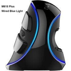 ขาย ซื้อ ออนไลน์ Delux M618 Plus Rgb Wired Vertical Mouse Ergonomic Usb 4000 Dpi Optical Healthy Wireless Mice Computer Gaming Mouse Intl