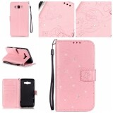 ซื้อ Diamonds Butterfly Pu Leather Case Flip Stand Cover For Samsung Galaxy J7 2016 J710 Pink ออนไลน์ จีน