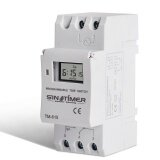 ขาย Digital Lcd Din Programmable Weekly Rail Timer Ac 220V 16A Time Relay Switch New Intl ถูก ใน จีน
