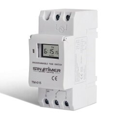 Digital Lcd Din Programmable Weekly Rail Timer Ac 220V 16A Time Relay Switch New Intl ใหม่ล่าสุด