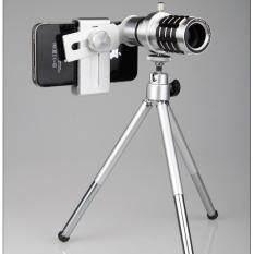 Dn เลนส์กล้องมือถือ ออพติคอลซูม 12x พร้อมขาตั้งและเคสล็อคมือถือ Len 12x.