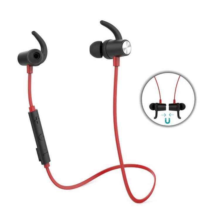 รีวิว dodocool Magnetic Wireless Stereo Sports In-Ear Headphone with HD Mic CVC 6.0 Noise Cancellation for Most Bluetooth-enabled Smart Devices Red – intl