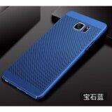 ขาย ซื้อ ออนไลน์ Dotted Breathable Ultra Thin Pc Phone Case For Samsung Galaxy Note 5 Blue Intl